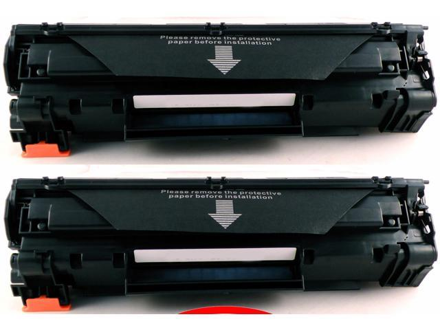 2-Pack Compatible 36A, CB436A, CB436AD Toner Cartridge for HP LaserJet M1522n MFP, M1522nf MFP, P1505, P1505n Printers