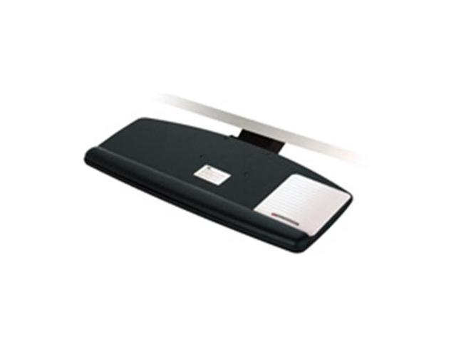 3M MMMAKT60LE Adjustable Keyboard Tray- Height Adjusts- 25-.50in.x12in.- Black