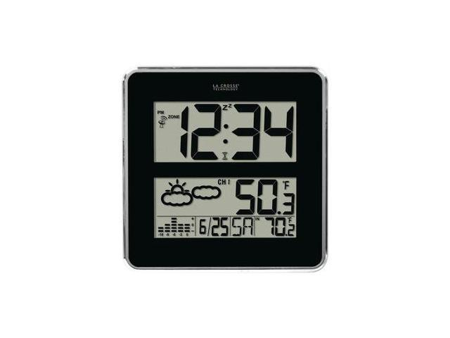 La Crosse Technology 512b-811 Atomic Clock With In/out Temp & Forecast