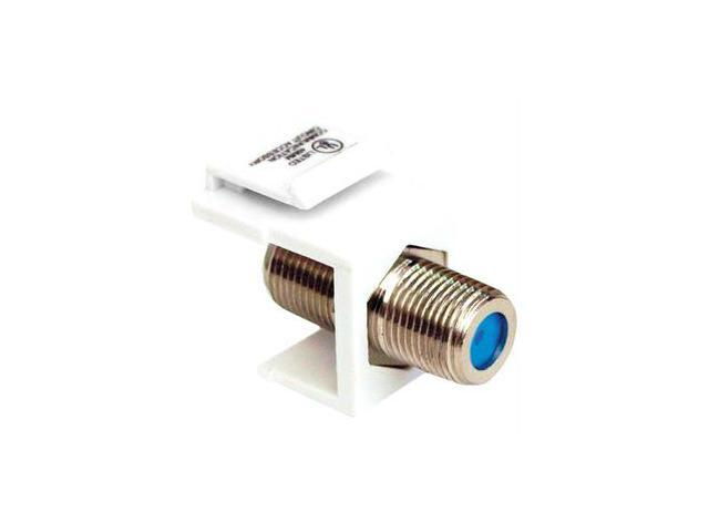 Datacomm Electronics 20-3202-wh Keystone Jack With 2.4 Ghz F-connector (white)