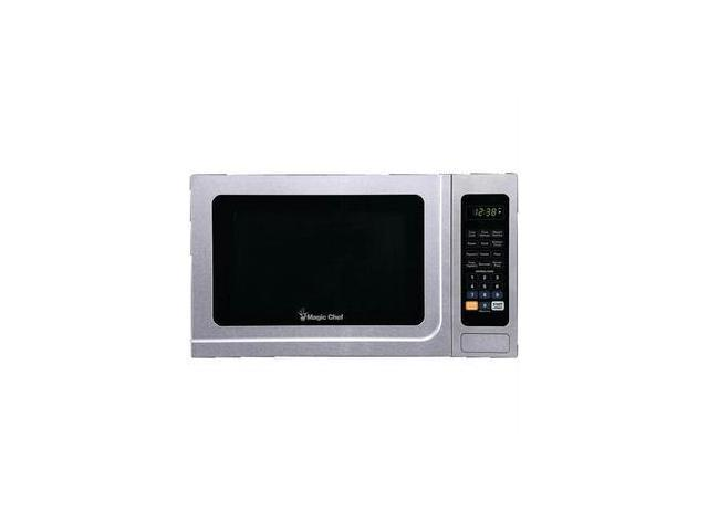 Magic Chef Mcm1310sb 1.3 Cubic-ft 1000-watt Stainless Steel Front Microwave With Black Cabinet