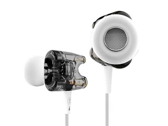 TTPOD T1S HiFi Dual Dynamic In-Ear Headphone / Earphones with Microphone Black Aurum