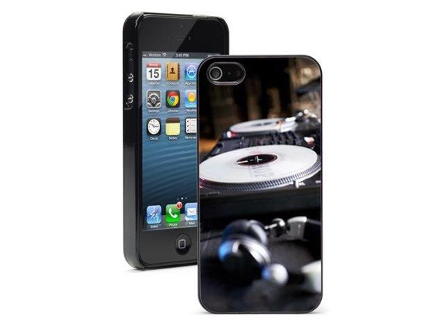 Apple iPhone 5 Black 5B356 Hard Back Case Cover Color Turntable DJ Headphones