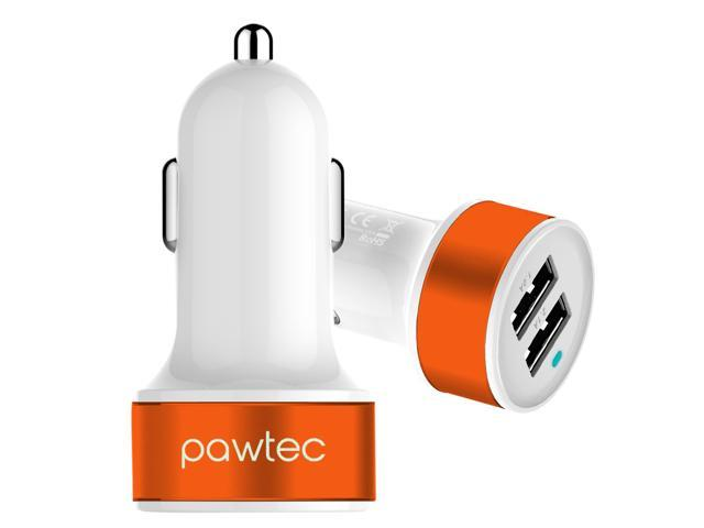 Pawtec Signature Mini Dual USB Car Charger 5V 3.1A / 15W High-Speed with Storage Sleeve For Smartphones & Tablets - Apple iPhone 5S 5C 5 ...