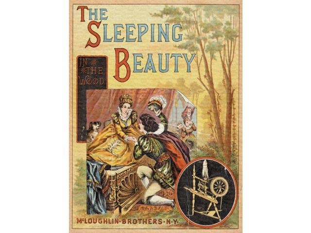 Buyenlarge - 21461-9CG28 - The Sleeping Beauty In the Wood 28x42 Giclee on Canvas