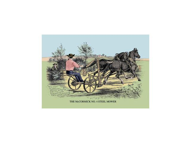 Buyenlarge - 08160-0CG28 - The McCormick No. 4 Steel Mower 28x42 Giclee on Canvas