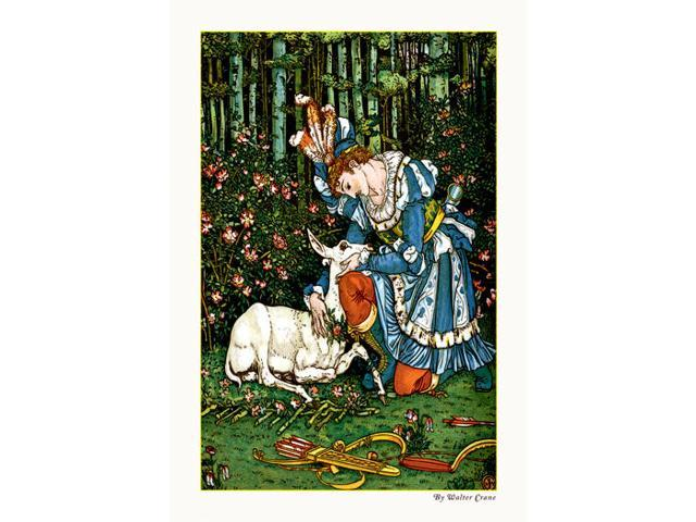 Buyenlarge - 09610-1CG28 - The Hind in the Wood - In the Forest 28x42 Giclee on Canvas