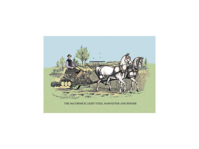 Buyenlarge - 08156-2CG28 - The McCormick Light Steel Harvester and Binder 28x42 Giclee on Canvas