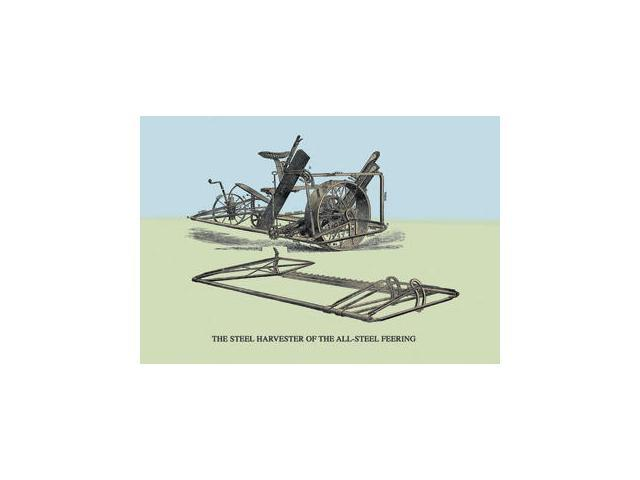 Buyenlarge - 07595-3CG28 - The Steel Harvester of the All-Steel Feering 28x42 Giclee on Canvas