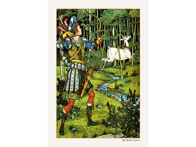 Buyenlarge - 09609-8CG28 - The Hind in the Wood - The Archer 28x42 Giclee on Canvas