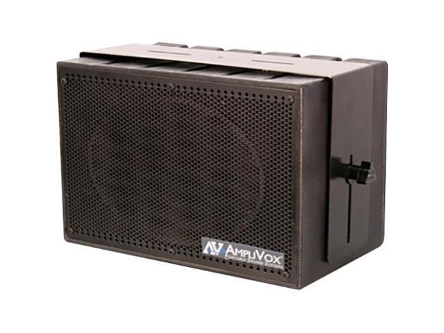 AmpliVox - S1230 - AmpliVox Mity Box S1230 50 W RMS Speaker - Black - 50 Hz to 20 kHz - 4 Ohm - Wall ...