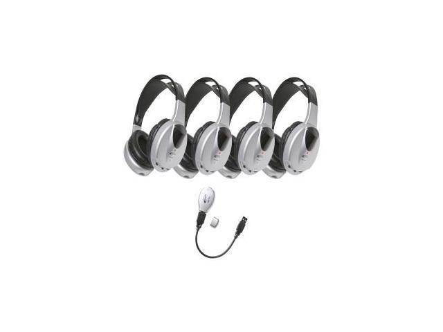 Ergoguys - HIR-KT4 - Califone 4-Person Infrared Stereo/Mono Wireless Headphones Set Via Ergoguys - 2300kHz - 2800kHz