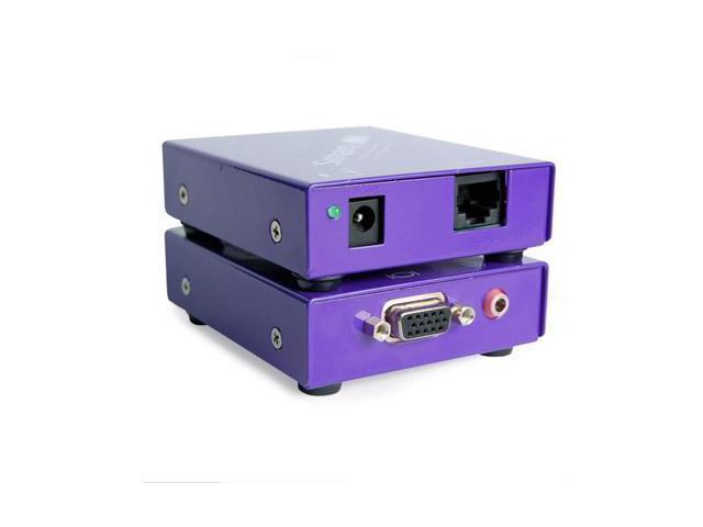 Smart AVI - XTAVS - VGA and Audio CAT5 Extender TX/RX HDTV/1000ft (RJ45/3.5mm)
