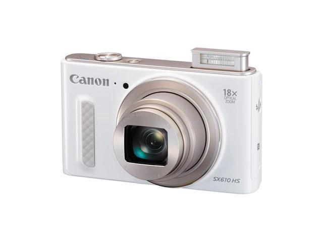Canon - 0112C001 - Canon PowerShot SX610 HS 20.2 Megapixel Compact Camera - White - 3 LCD - 16:9 - 18x Optical Zoom - 4x ...