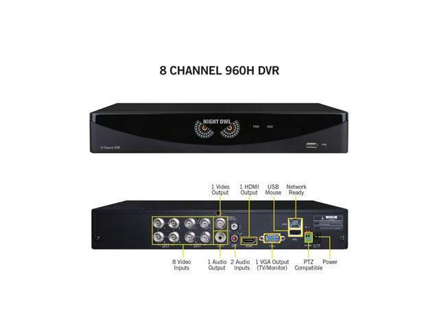 Night Owl Optics - F6-DVR8 - Night Owl 8 Channel Video Security System - Digital Video Recorder - 15 Fps - Composite