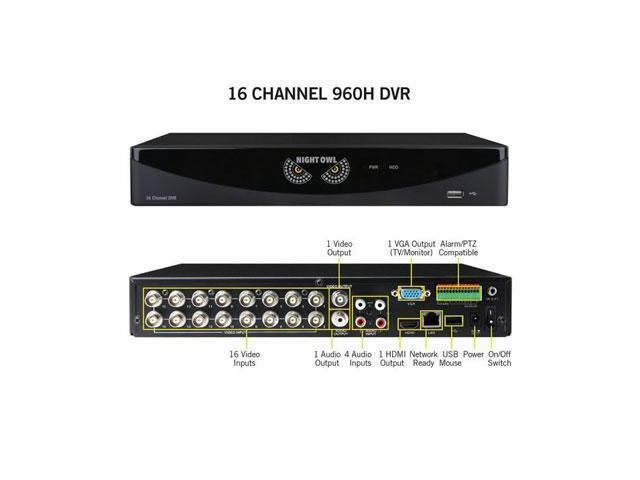 Night Owl Optics - F6-DVR16-1TB - Night Owl 16 Channel Video Security System with a 1TB HDD - Digital Video Recorder - 1