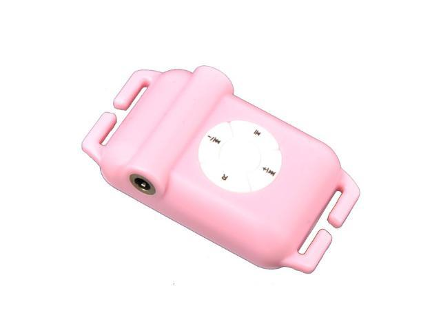 4GB Waterproof MP3 Player Built-in FM Radio with Earphone (Pink)