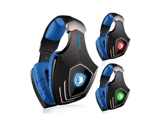SADES A60 7.1 Surround Sound Professional USB Vibration Wired Mic Gaming Headset