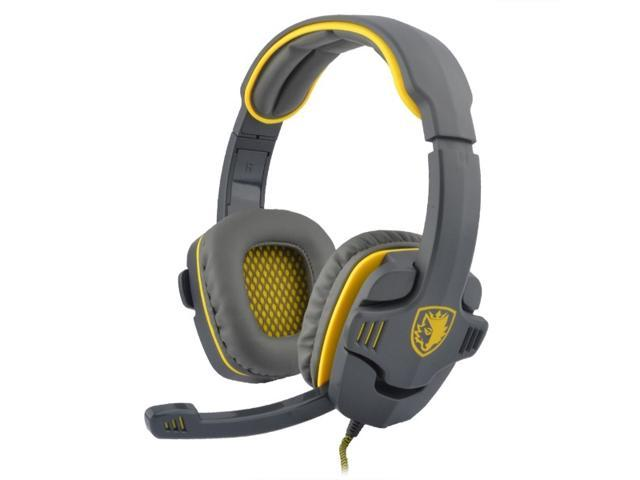SADES SA-708 Computer Gaming Stereo Headset with Mic & Remoter Zombie Yellow