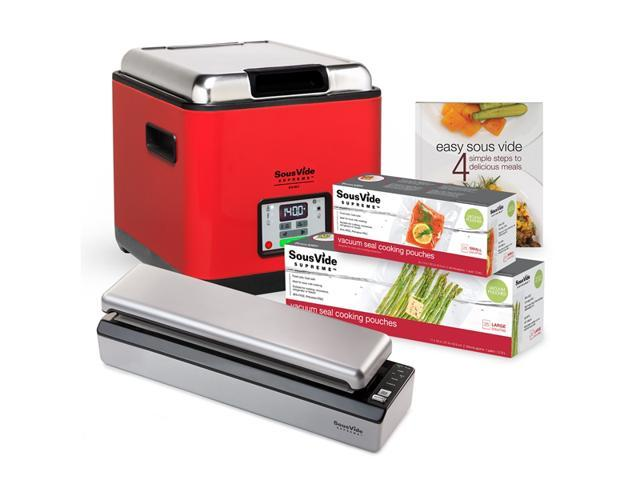 SousVide Supreme Demi Water Oven Promo Pack for Sous Vide Cooking - Red