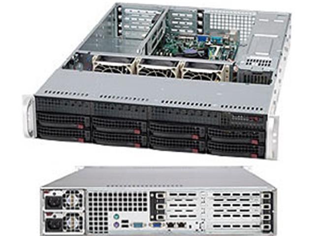 SUPERMICRO CSE-825TQ-R720UB Black 2U Rackmount Server Case 720W Redundant