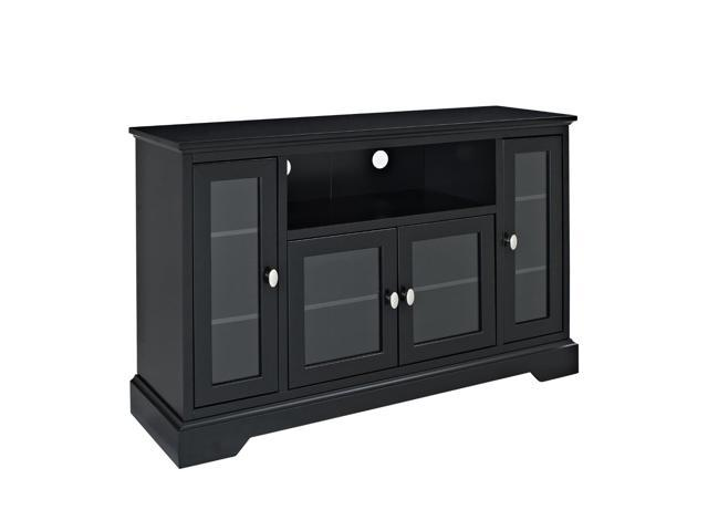 52 in. Highboy Style Wood TV Stand - Black