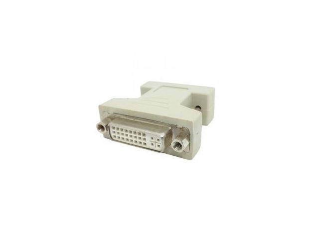 Smays VGA SVGA RGB 15Pin Male to DVI -I 24+5 Female adapter Beige for video card