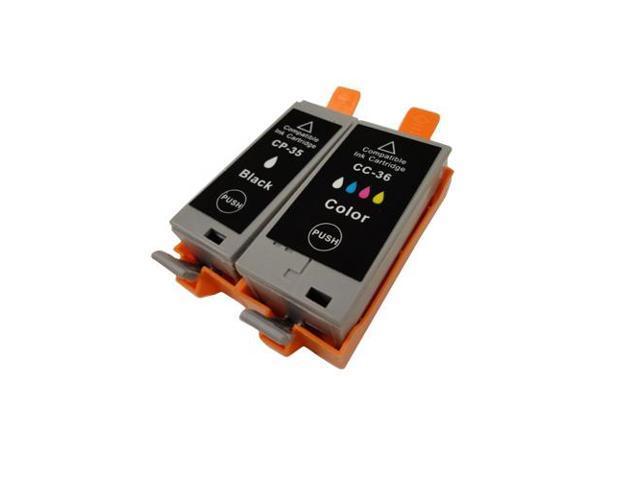 New Compatible Black & Color Printer Ink Jet Cartridge Set for Canon Pixma iP100 Printers PGI-35 1509B002 CLI-36 1511B002