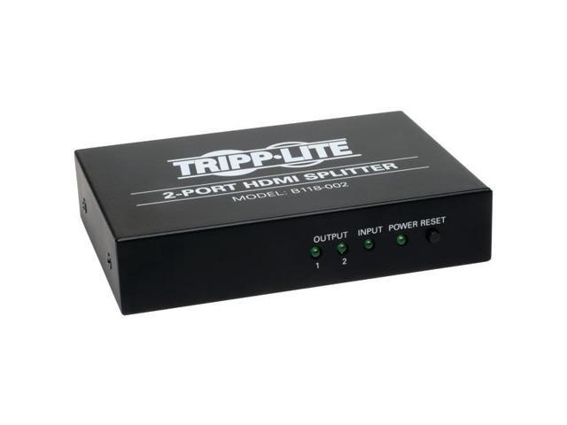 TRIPP LITE B118-002 2-Port HDMI(R) Splitter with High Speed 1080p Video Resolution HDCP