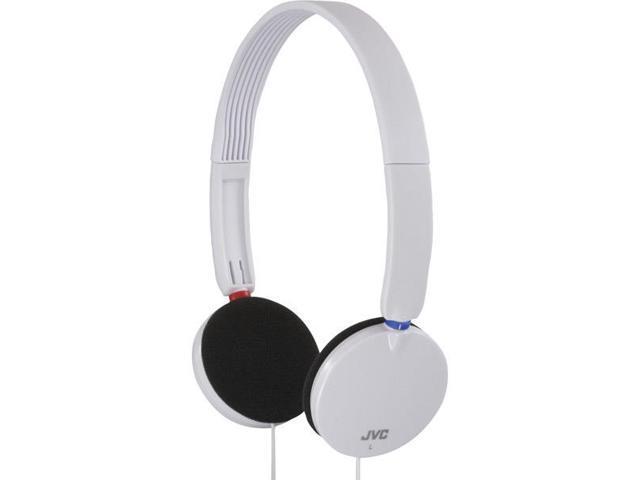 Lightweight Portable On-Ear Headphones-White