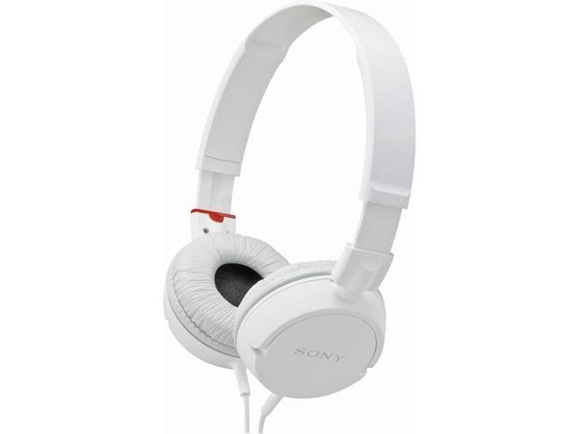 White ZX Series Lightweight Stereo Headphones