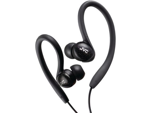 JVC HA-EBX85-Z Ladies' Sport Ear-Clip Headphones (Black)
