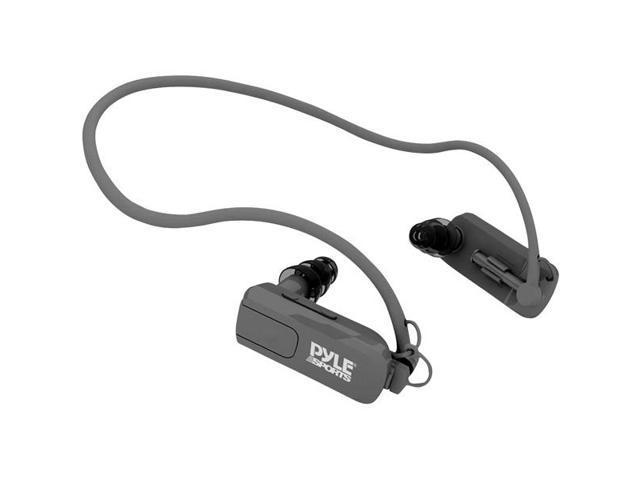 Waterproof Neckband Headphones with Built-in MP3 Player - Black