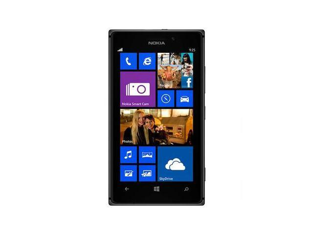 Nokia 925 Black 3G LTE Windows Phone 8 Dual-Core 1.5GHz 16GB 8.0MP Camera Unlocked GSM Cell Phone