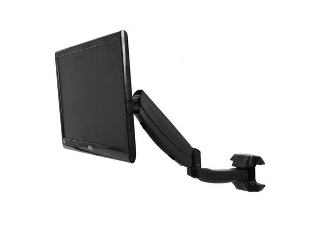 Single LCD Monitor Wall Mount Stand Black Deluxe Gas Spring 1 Screen upto 27