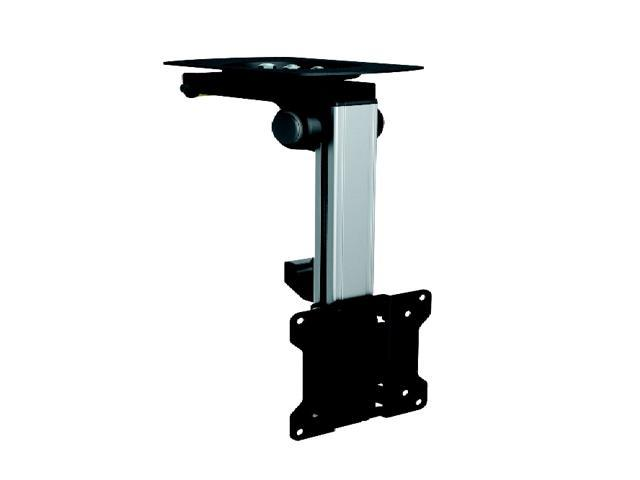 Mount-It! LCD Tilt Swivel Under Cabinet Mount for 13 to 27-inches TV Black