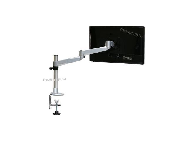 Mount-It! Articulating Single Arm Computer Monitor Desk Mount for 24-Inch Monitors