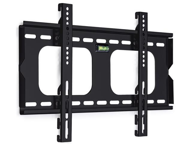 Mount-It! Low Profile Fixed Plasma & LCD TV Mount compatible with Samsung, Sony, LG, Panasonic TVs , Black (23