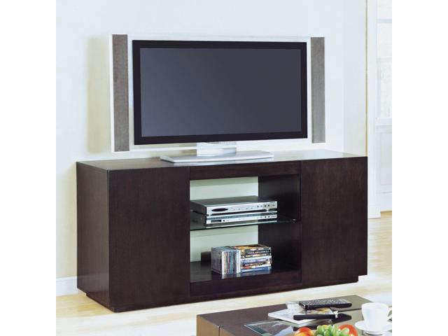 Monarch Specialties I 7813 Cappuccino Veneer Assembled 60 Inch TV Console