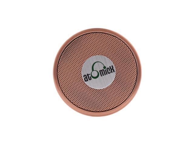 iDeaUSA's AtomicX SP-S10CP Bluetooth Speaker w/ Mic (Copper) - OEM