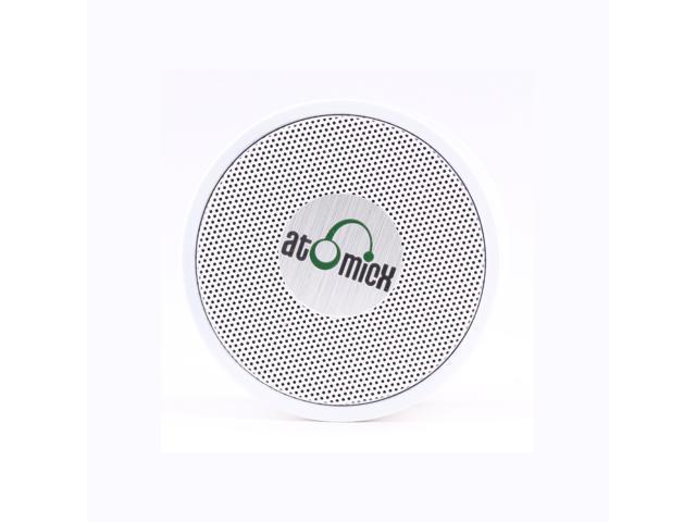 iDeaUSA's AtomicX SP-S10W Bluetooth Speaker w/ Mic (White) - OEM
