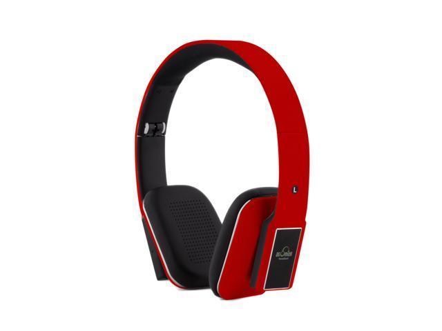iDeaUSA's AtomicX HP001BT-R Bluetooth Headphone w/ Mic (Red)