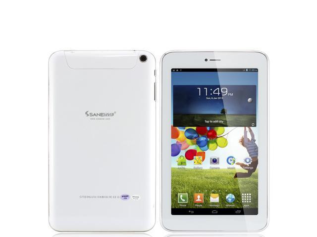 7 inch Sanei G708 2G Phone Call Tablet PC MTK8312 Dual Core 1.3GHz 512MB Memory 8GB Android 4.2 Dual SIM 8GB ROM Bluetooth GPS WiFi ...
