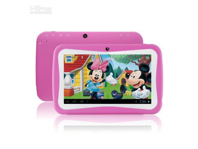 7inch Kids tablet PC Android 4.2 Dual core touch compacitive screen 512MB RAM 4GB ROM RK3026 1.20Ghz Wifi Dual Camera Tablet Android Kispad ...