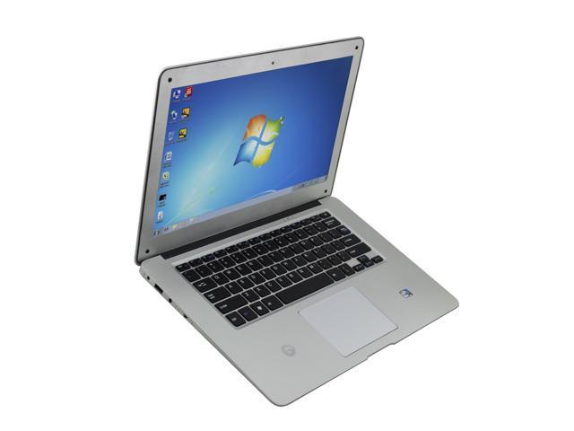 14.1 inch Win7 Dual Core Slim Laptop Atom D2500 1G Memory 250G HDD WIFI HDMI Mini Netbook 1366X768