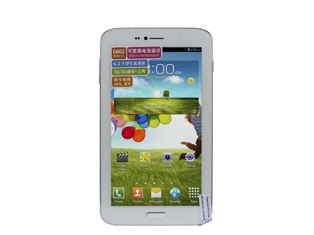 Sanei G602 6.2 inch Quad core 3G Tablet Android 4.2 MTK8382 IPS Screen GPS Bluetooth WCDMA 3G Dual Cameras 8GB ROM 512MB RAM OTG