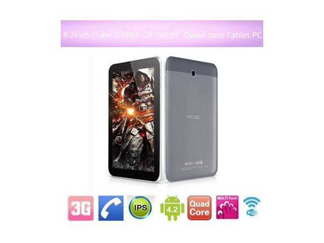 Cube U59GT-C4 Talk97 tablet 9.7 inch IPS MTK8382 Quad Core 1.30Ghz 1GB RAM 8GB ROM GPS 3G Phone phablet Android 4.2 Quad Core Dual Camera ...