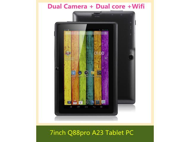 2PCS 7 inch Q88ro a23 tablet pc Dual core Android 4.2 512MB RAM 4GB ROM Allwinner A23 1.5GHz Capacitive Screen WIFI Webcam support 3G/WCDMA ...