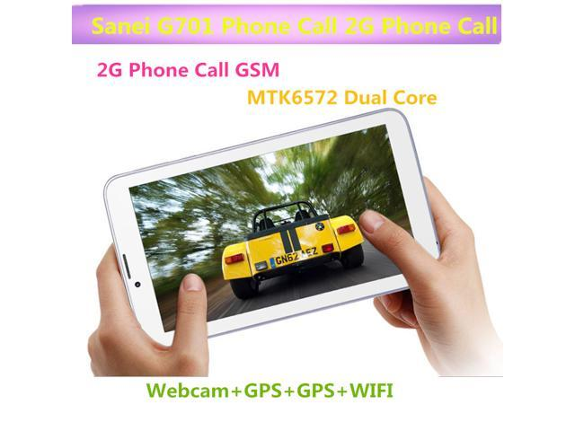 Sanei G701 2G Phone Call tablet PC Android 4.2 Dual Core MTK6572 1.30GHz Bluetooth 512MB 4GB Capacitive Screen WIFI Bluetooth GPS Android Tablet PC