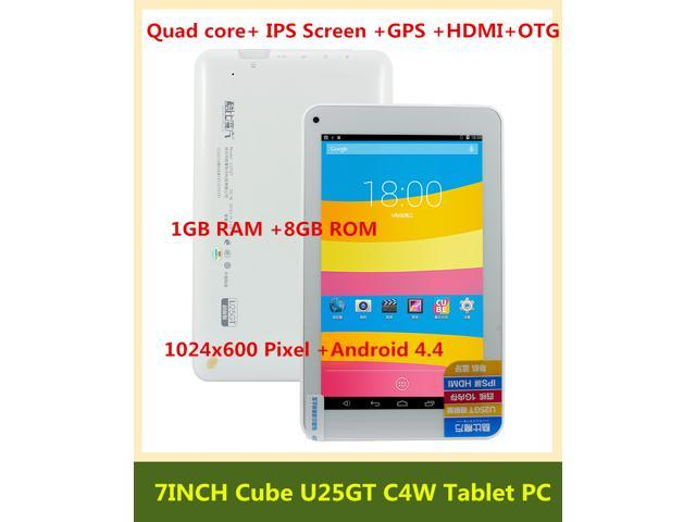 Cube U25GT C4W 7inch Quad core Android 4.4 Kitkat Tablet PC 1G RAM 8G ROM MTK8127 1.30GHz IPS Screen OTG HDMI GPS Android Tablet PC ...